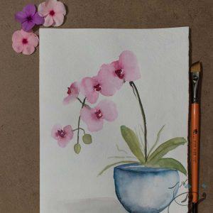 نقاشی گل ارکیده